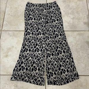 Billabong Printed Wide Leg Cotton High Rise Pants